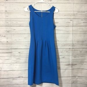 J. Crew Pleated Flare Dress Royal Blue Women's 0